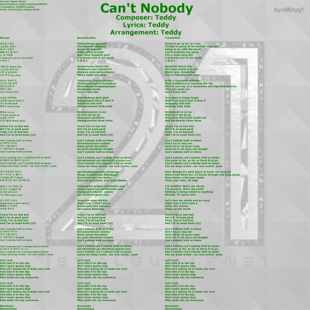 01 Can't Nobody