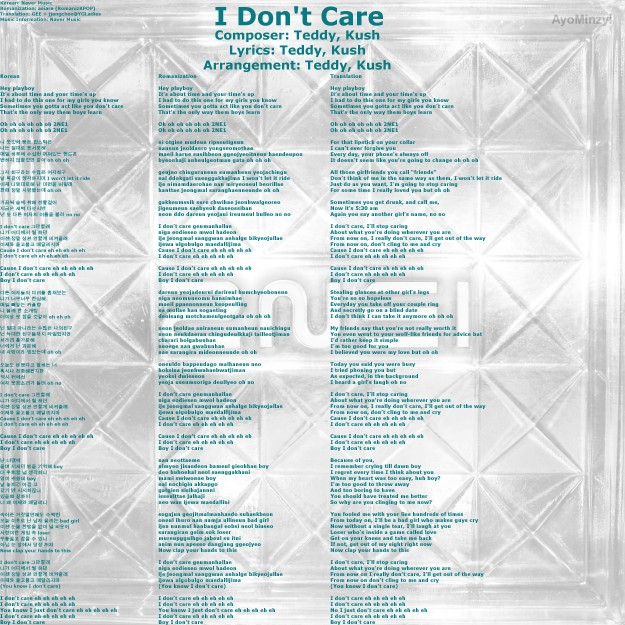 02 I Don't Care