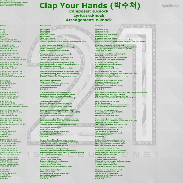 03 Clap Your Hands