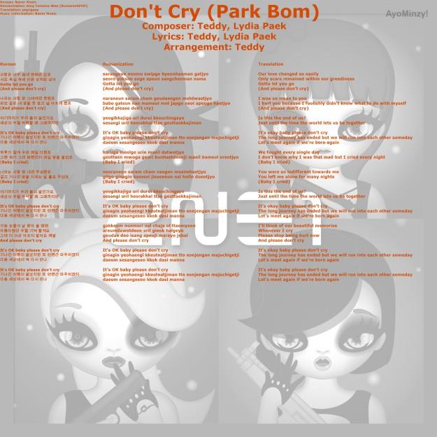 05 Don't Cry (Park Bom)