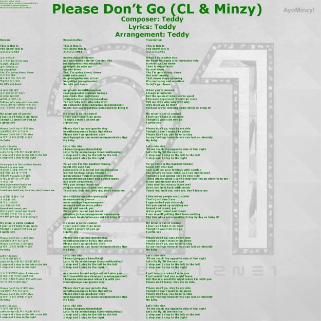 08 Please Don't Go (CL&Minzy)