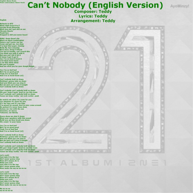 12 Can't Nobody (English Version)