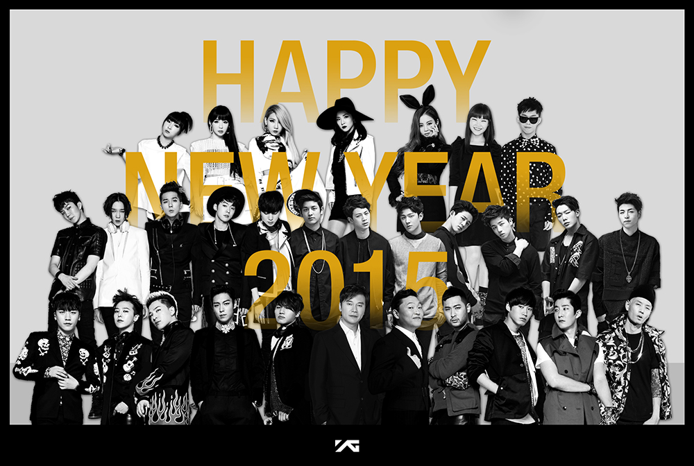 [OFFICIAL PHOTO] YG Family Wishes You Happy A New Year ...