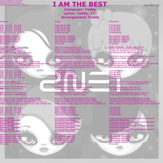 01 I AM THE BEST