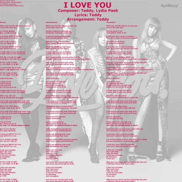 01 I LOVE YOU