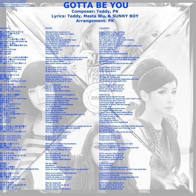 03 GOTTA BE YOU