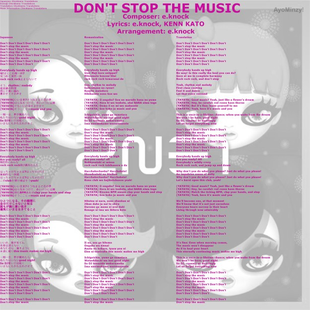 05 DON'T STOP THE MUSIC