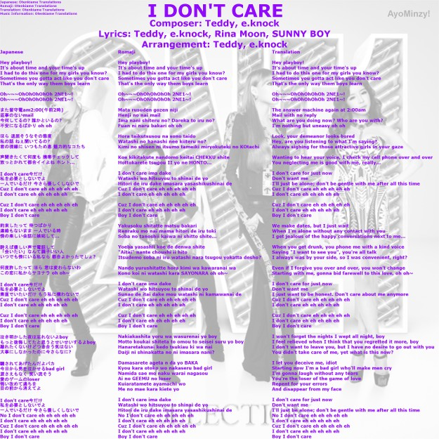 05 I DON'T CARE