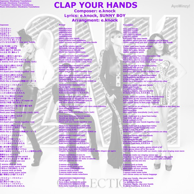 08 CLAP YOUR HANDS