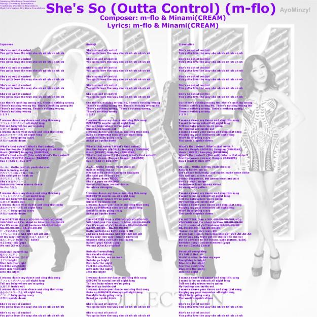 11 She's So (Outta Control)